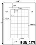 15/16 x 15/16 Square White Label Sheet<BR><B>USUALLY SHIPS SAME DAY</B>