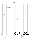 1 1/4 x 9 1/4 Rectangle  White Label Sheet<BR><B>USUALLY SHIPS SAME DAY</B>