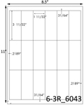 1 11/32 x 3 11/32 Rectangle  White Label Sheet<BR><B>USUALLY SHIPS SAME DAY</B>