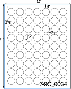 1 Diameter Round Clear Matte Polyester Laser Label Sheet<BR><B>USUALLY SHIPS SAME DAY</B>