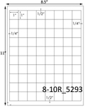 1 x 1 Square White Label Sheet<BR><B>USUALLY SHIPS SAME DAY</B>