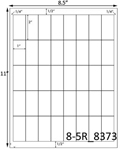 1 x 2 Rectangle White Label Sheet<BR><B>USUALLY SHIPS SAME DAY</B>