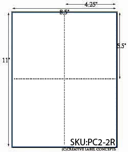 4.25 x 5.5 Do-It-Yourself Post Card Sheet <BR><B>USUALLY SHIPS SAME DAY</B>