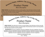 Rectangle Customized Ingredient Label<BR>Design Style #10<BR><B>USUALLY SHIPS WITHIN 24-48 HRS</b>