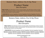 Rectangle Customized Ingredient Label<BR>Design Style #11<BR><B>USUALLY SHIPS WITHIN 24-48 HRS</b>