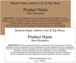 Rectangle Customized Ingredient Label<BR>Design Style #12<BR><B>USUALLY SHIPS WITHIN 24-48 HRS</b>