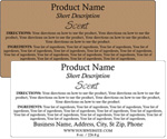 Rectangle Customized Ingredient Label<BR>Design Style #13<BR><B>USUALLY SHIPS WITHIN 24-48 HRS</b>