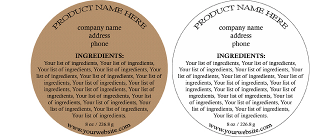 Quick Easy and Affordable Ingredient Labels for your Bath Body – Ingredients Label Template