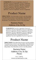 Square Customized Ingredient Label<BR>Design Style #8<BR><B>USUALLY SHIPS WITHIN 24-48 HRS</b>