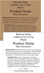 Square Customized Ingredient Label<BR>Design Style #9<BR><B>USUALLY SHIPS WITHIN 24-48 HRS</b>
