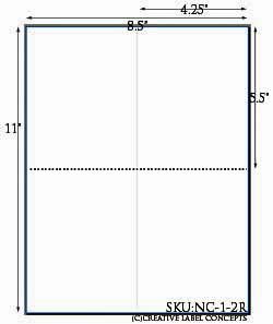 4.25 x 5.5 Folding Note Card White Cardstock Sheet <BR><B>USUALLY SHIPS SAME DAY</B>
