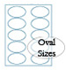 Bright Color Oval Labels
