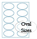 oval brown kraft labels custom printed