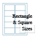 Standard White Labels - Square Corner Rectangles