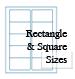 Rectangle Brown Kraft Labels Custom Printed