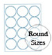 White Polyester Round Label Sheets (printed)
