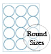Round Brown Kraft Labels Custom Printed