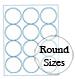 Round Brown Kraft Labels Custom Printed