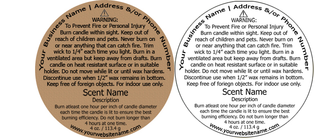 picture regarding Free Printable Candle Warning Labels referred to as Spherical Custom-made Candle Caution Label, Style Structure #1, Traditionally SHIPS In just 24-48 Hours