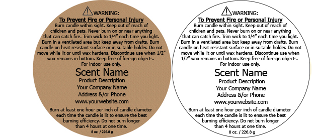 candle warning labels customized with your information. Black Bedroom Furniture Sets. Home Design Ideas